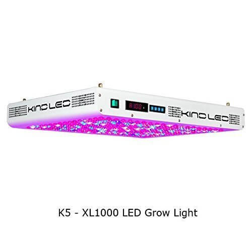 Kind K5 XL1000 LED Grow Light w/ Rope Ratchets and Protective Eyeglasses