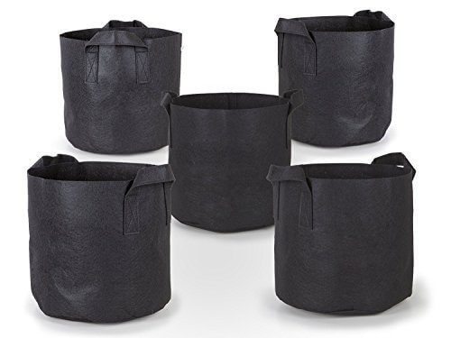 247Garden 5-Pack 3 Gallon Grow Bags