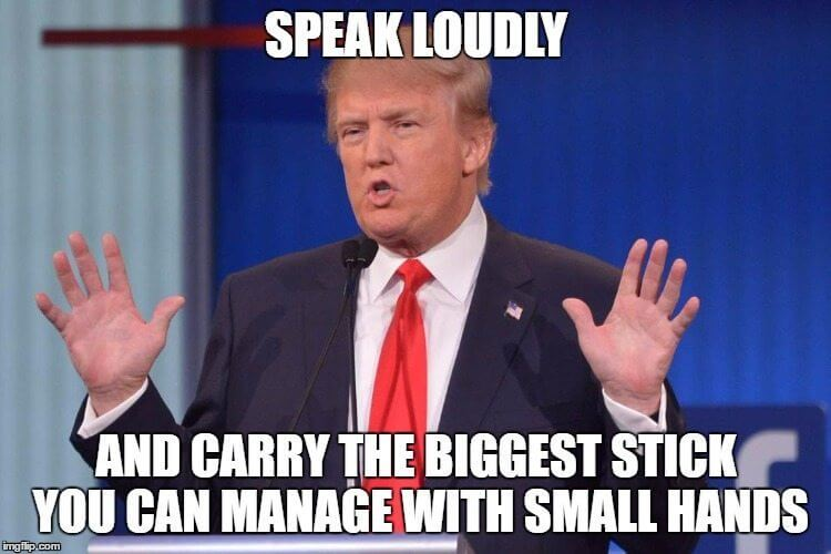 Trump's small hands
